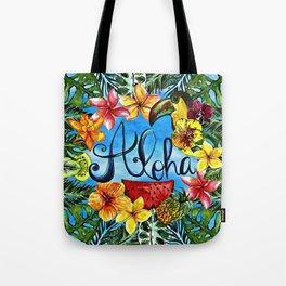 Aloha - Tropical Flower Food and Animal Summer Design Tote Bag