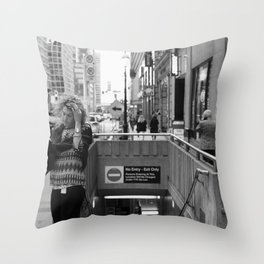 Windy Toronto city and downtown life Throw Pillow