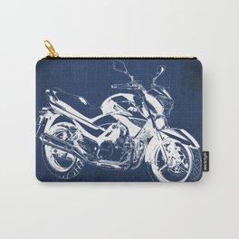 Motorcycle blueprint, 2012 Suzuki Inazuma 250, japanese bike Carry-All Pouch