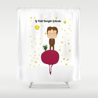 dwight Shower Curtains featuring Dwight Schrute by Creo tu mundo