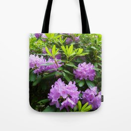 Purple Tower Tote Bag