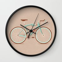 bicycle Wall Clocks featuring Bicycle by Daniel Mackey