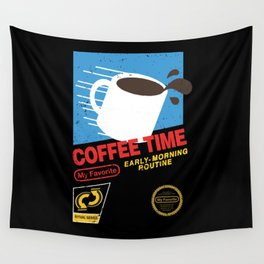 Coffee Time  Wall Tapestry