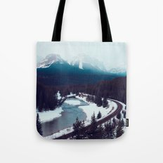 Canadian Rocky Mountains, Banff, Lake Louise, Winter Landscape Tote Bag