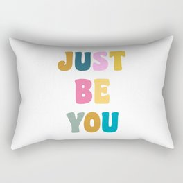 Colorful Just Be You Lettering Rectangular Pillow