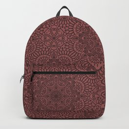 Red Lace Texture Goth Pattern  Backpack