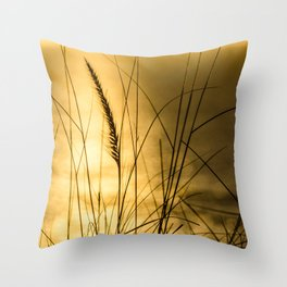 Golden Herbs Throw Pillow