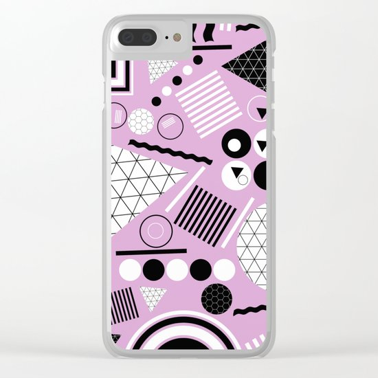 Busy Busy Busy Black And White! Clear iPhone Case