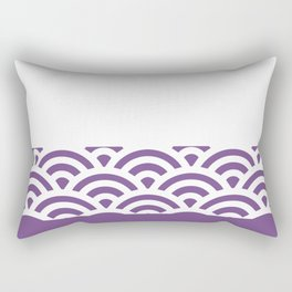 Rainbow Trim Ultraviolet Rectangular Pillow