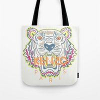 kenzo Tote Bags featuring Kenzo by Beauti Asylum