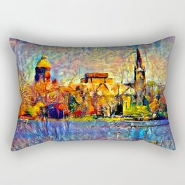 Notre Dame: A View From the Lake Rectangular Pillow
