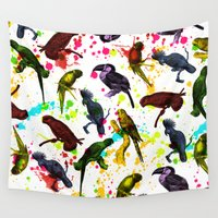 tropical Wall Tapestries featuring TROPICAL by DIVIDUS