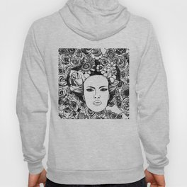 """PHOENIX AND THE FLOWER GIRL """"STEP BY STEP MOVING"""" SINGLE PRINT Hoody"""