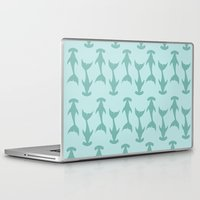 sharks Laptop & iPad Skins featuring Sharks by gracekansai