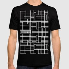 Stained Glass W MEDIUM Black Mens Fitted Tee