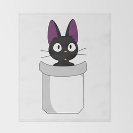 Pocket Jiji! Throw Blanket