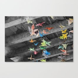 Origami flight Canvas Print