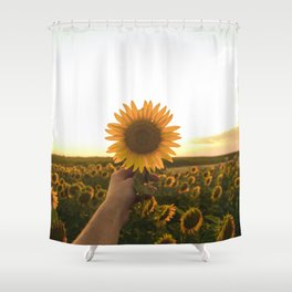 Her Sunflower (Color) Shower Curtain