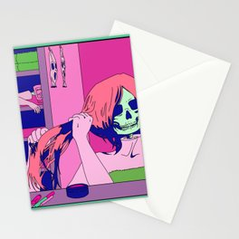 putting on your face Stationery Cards
