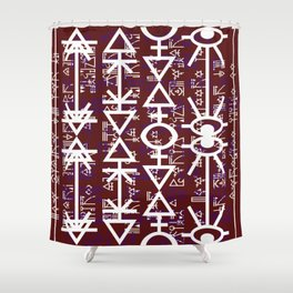 Love Rune-Burgandy Shower Curtain