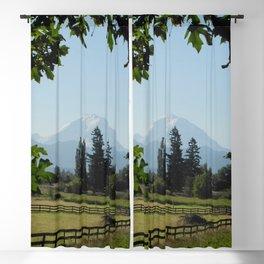 View of Mt Rainier Blackout Curtain