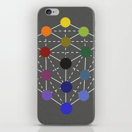 Colour cube (black point) from the Manual of the science of colour by W. Benson, 1871, Remake iPhone Skin
