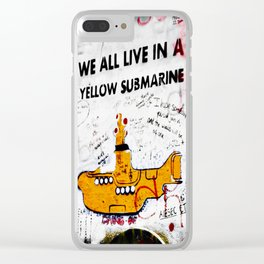 YELLOW SUBMARINE Clear iPhone Case