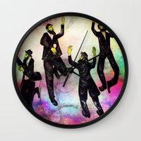 jewish Wall Clocks featuring jewish by Mimi Eskenazi