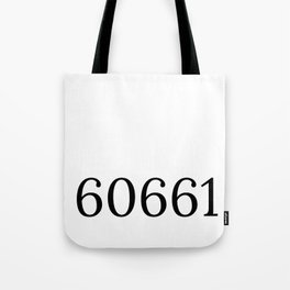 Chicago zip code pillow 60661 Tote Bag