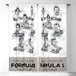 Formula 1 World-Champion from 1990 to 1999 Blackout Curtain