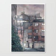 Tokyo night street Canvas Print