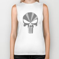 punisher Biker Tanks featuring The Punisher by Andrian Kembara