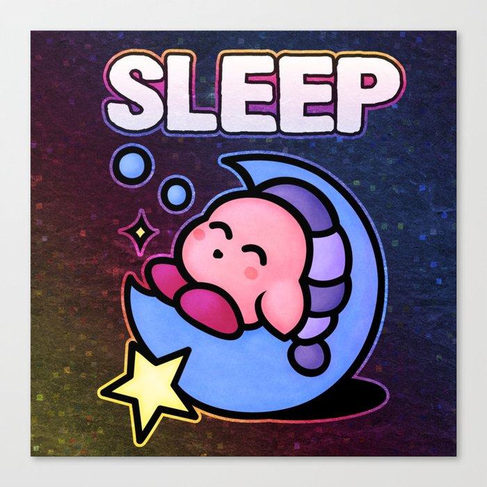 Kirby Sleep Canvas Print