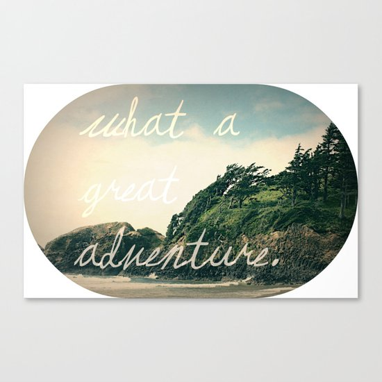 what a great adventure Canvas Print