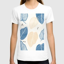 Leaves - Mid Century Pattern T-shirt