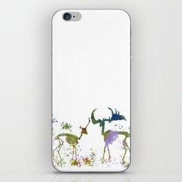 Deer Skeletons iPhone Skin