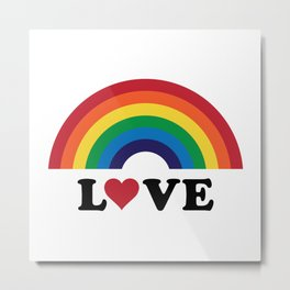 70's Love Rainbow Metal Print