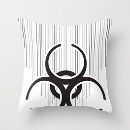 Bio-Drip on White Throw Pillow