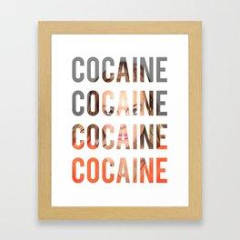 LINDSAY LOHAN - COCAINE Framed Art Print