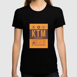 Luggage Tag B - KTM Kathmandu Tribhuvan Nepal T-shirt