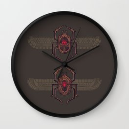 Scarabs Wall Clock