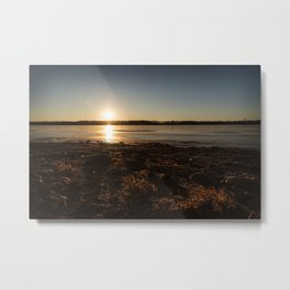 Sunset Over Freezing Lake 5 Metal Print