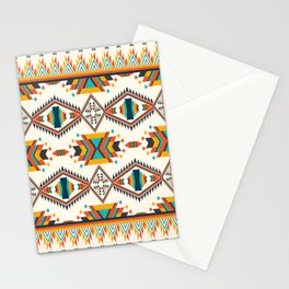 Colorful Geometric Ethnic Textile Stationery Cards