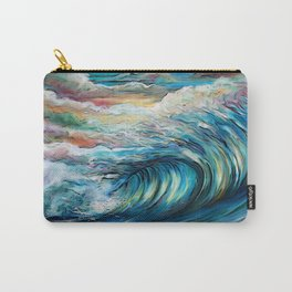 The Rainbow Wave Carry-All Pouch