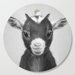 Baby Goat - Black & White Cutting Board