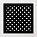 Black Polka Dots Palm Beach Preppy by cafepretzel