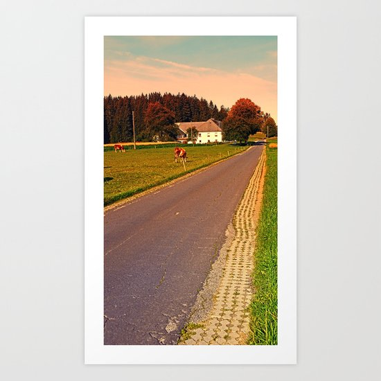 Country road on summer morning | landscape photography Art Print