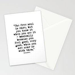 Charles Bukowski Quote Free Soul Stationery Cards