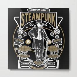 Steampunk Legacy Metal Print