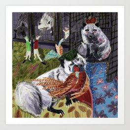 Prince and Princess Fox Art Print